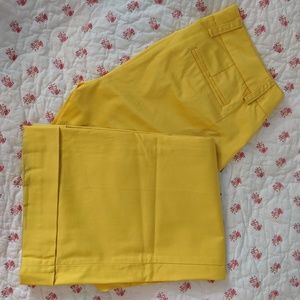 J. Crew yellow stretch chinos, city fit